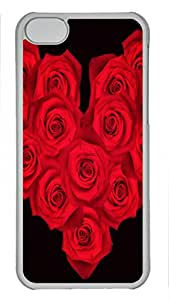 Shell Case for iphone 5C with Fourteen Roses DIY PC Transparent Hard Skin Case for iphone 5C