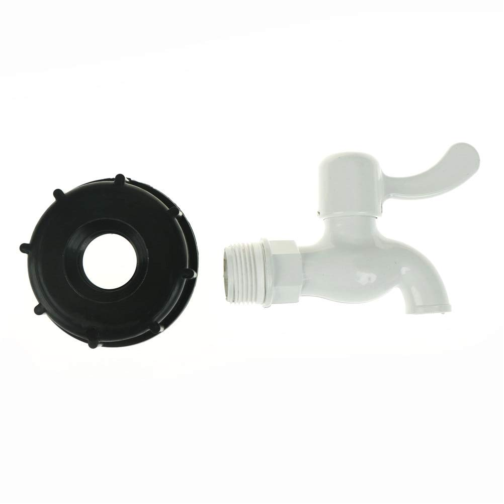 2/'/' IBC S60x6 Thread Tank Adapter Tap Connector Replacement Valve Fitting