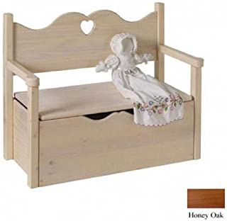 product image for Little Colorado Bench Toy Box, Honey Oak/Heart