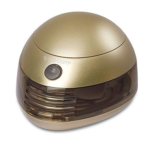 SpaRoom Aromafier Metallic Portable Essential Oil Diffuser Portable USB or Batteries (Gold)