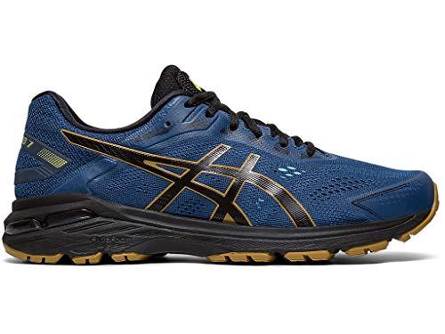 ASICS Men's GT-2000 7 Trail Running Shoes, 10.5M, MAKO Blue/Black
