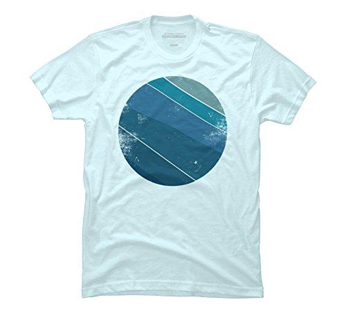 Planet Surf Vintage Men's Medium Light Blue Graphic T Shirt - Design By - Planet Surf Blue Shop