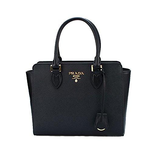 Prada Pocket Tote (Prada Women's Saffiano Leather Shoulder Tote Handbag 1BA113)
