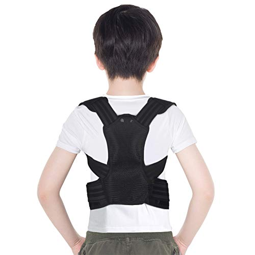 Posture Corrector for Kids, Upper Back Posture Brace for Teenagers Under Clothes Spinal Support to Improve Slouch, Prevent Humpback, Relieve Back Pain (S)