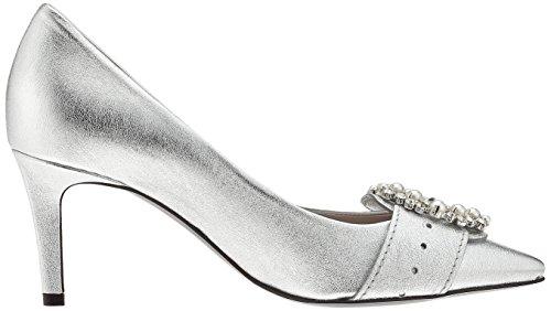 Silber Schuhmanufaktur para Liz Crystal Punta Schmenger Silver Cerrada Kennel Mujer con Zapatos Tacón und de qE7ExnwBv