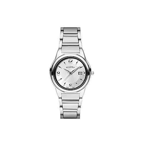 Roamer of Switzerland Women's 33mm Steel Bracelet & Case Quartz Silver-Tone Dial Watch 507844 41 15 50