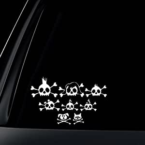 Skull Family Car Decal / Sticker