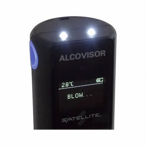 Satellite Portable Alcohol Breath Tester- Professional Grade- Accurately Measures Breath Alcohol Content- Personal Breath Alcohol Tester Displays Accurate BAC Results in Seconds