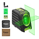 Huepar Self-Leveling Green Laser Level 150ft/45m Outdoor Cross Line Laser, Selectable Laser Lines, Level with Magnetic Mount Base, Carrying Pouch, Battery Included -BOX-1G