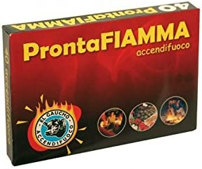 Kekai KT0578 Estufa o Chimenea de Le/ña ProntaFiamma 48 pastillas Pastillas de Encendido para Grill Barbacoa