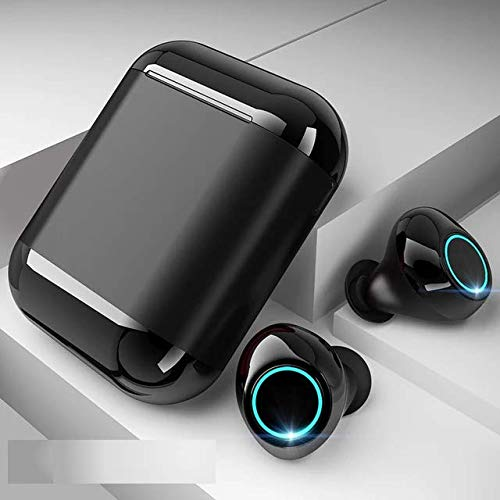 REO S7 Plus Wireless Bluetooth Headset with Charging Box  Black