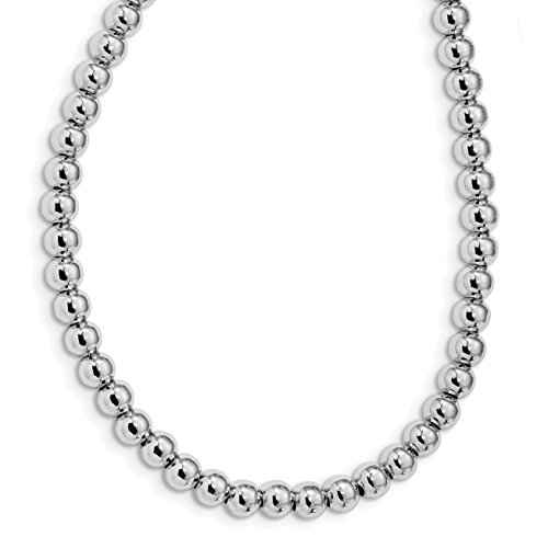ICE CARATS 925 Sterling Silver 5mm Beaded Adjustable Slip On Chain Necklace Fancy Bead Station Fine Jewelry Gift Valentine Day Set For Women Heart (Adjustable Beaded Heart Necklace)