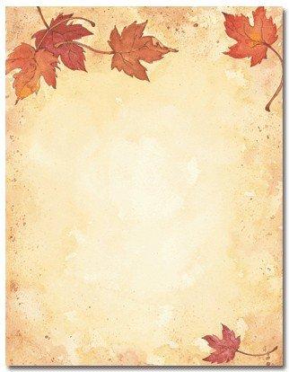 Masterpiece Fall Leaves Letterhead - 8.5 X 11 - 100 Sheets