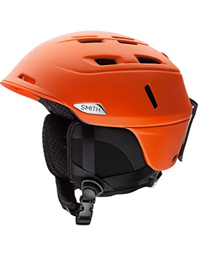 Smith Optics Unisex Adult Camber Snow Sports Helmet - Matte Orange Medium (55-59CM) by Smith Optics
