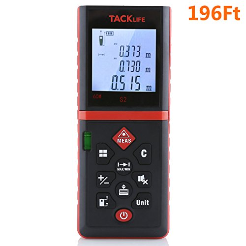 Tacklife Advanced Laser Measure 196 Ft