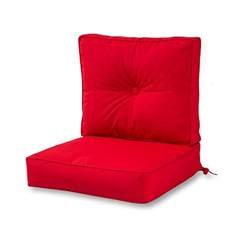 Greendale Home Fashions Outdoor Sunbrella Deep Seat Chair Cushion Set, Jockey Red - Sunbrella Cushion Seat