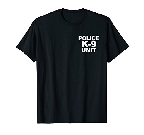 Police K-9 Unit Shirt Front & Back Print Law Enforcement ()