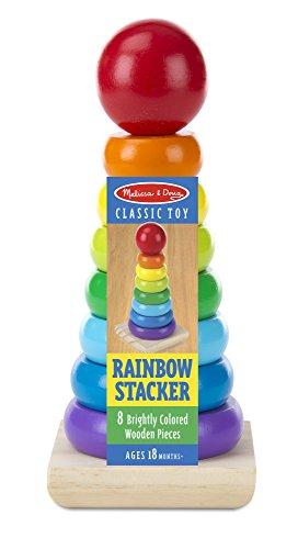 41QUV5G%2BLWL - Melissa & Doug Rainbow Stacker Wooden Ring Educational Toy