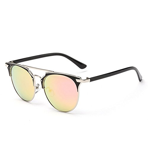 A-Roval Women Polarized Round Large Fashion Metal Sunglasses - Kennedy Glasses Jackie