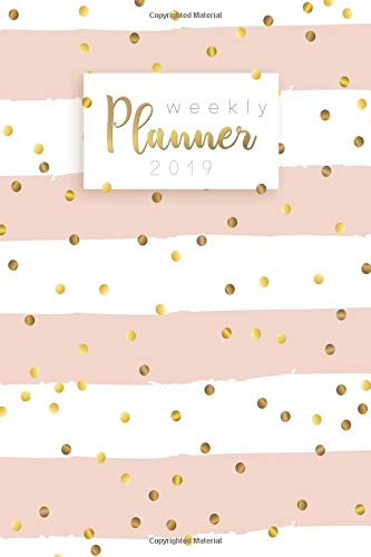 Weekly Planner 2019 Calendar Schedule Organizer and Daily Planner With Inspirational Quotes And Dotted Cover |  January to December 2019 [Organizeit] (Tapa Blanda)
