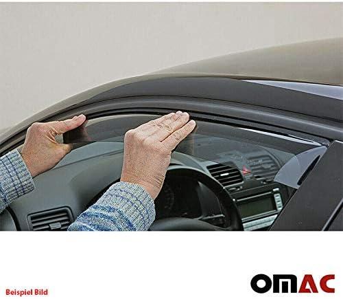 Omac GmbH Windabweiser Regenabweiser f/ür 500 ab 2007 2 TLG Satz vorne
