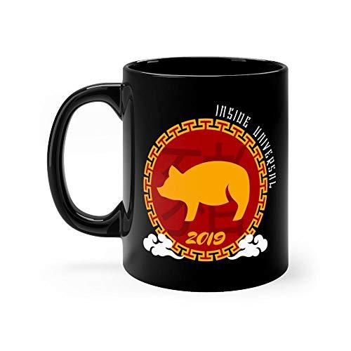 Lunar New Year 2019 Mug 11 Ounce Coffee Mug 11oz Ceramic Coffee Cups Funny Gift Mug Unique Novelty Gift Tea Mugs Funny Mug For Men, Women, Him, Her ()
