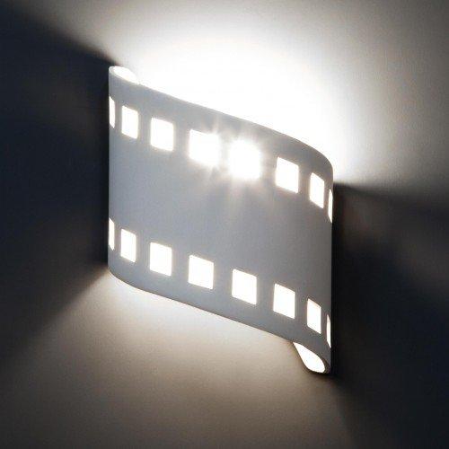 "9"" Wave Down Filmstrip Sconce"