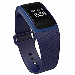 Learnin A09 Bluetooth NFC HD Heart Rate Smart Watch for Android IOS (Blue)