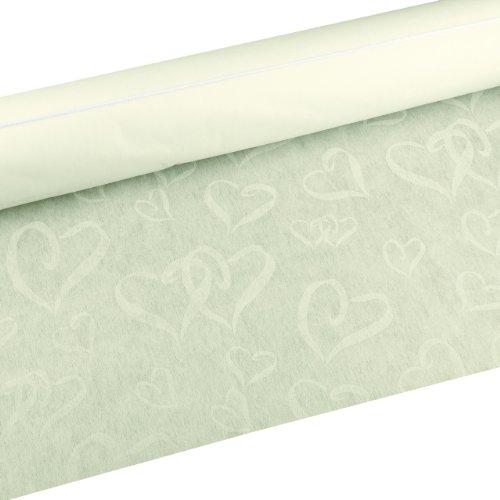 Hortense B. Hewitt Wedding Accessories Linked at Heart Fabric Aisle Runner, Ivory, 100-Feet Long from Hortense B. Hewitt