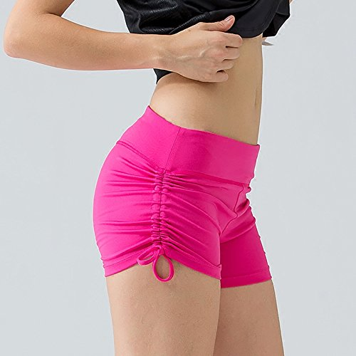MAYUAN520 Sport Shorts Frauen Hot Shorts Frauen Ziehen Seilen Entlang Größe Naht Yoga Shorts Breiten Taille Training Fitness Unten Schwarz Rose