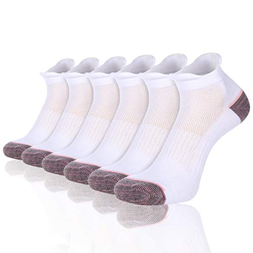 Heatuff Women's Ankle Quarter Athletic Running Socks Low Cut Cushioned Breathable Double Tab Sock With Arch Support 6 (Cushioned Support Socks)