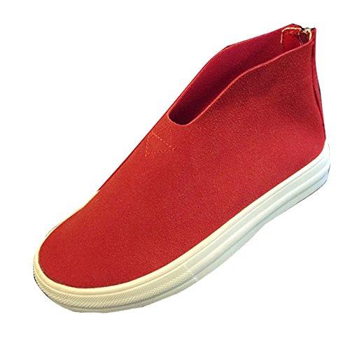 Gaorui Damer Slipper Mockasiner Sneakers Gymnastikskor Svart Röd Röd