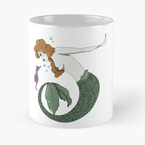 Mermaid Mermay Sea Horse - Funny Sophisticated Design Great Gifts -11 Oz Coffee Mug.the Best Gift For Holidays. -