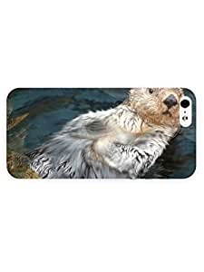 3d Full Wrap Case for iPhone 5/5s Animal Otter84