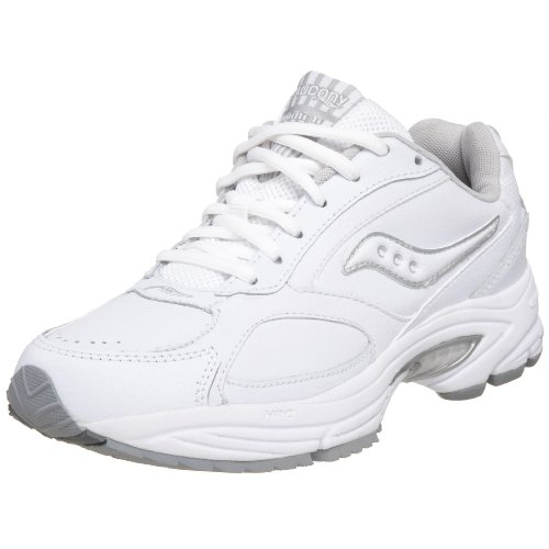 Saucony Women's Grid Omni Walker Walking Shoe,White/Silver,6 - Saucony White Shoes