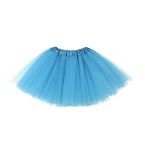 Sameno Baby Kids Girls (3-10T) Cute Solid Tutu Dress Ballet Skirts Fancy Party Skirt Clothes (Blue)