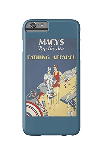 Macy's By - the - Sea - Bathing Apparel Vintage Poster c. 1928 (iPhone 6 Plus Cell Phone Case, Slim Barely - Images Macy's