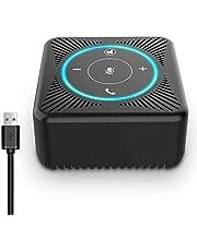 USB Freisprecheinrichtung - eMeet Konferenzlautsprecher Konferenztelefon Treffen von 5 Personen 4 AI Mikrofon Speak Arrays HD Business Speakerphone Skype, VoIP Kommunikation mit PC Plug and Play