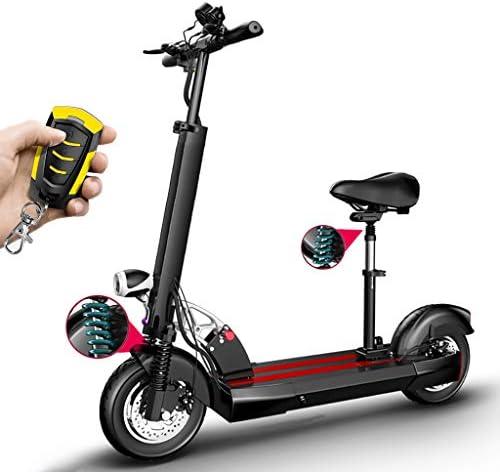 電動スクーター大人折りたたみ式長距離バッテリー400wモーター最大速度40km / h、10インチエア充填タイヤ付き、LEDディスプレイ付き、ポータブルで調整可能なEスクーター