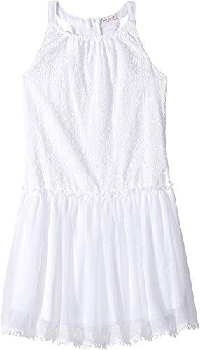 Girls White Eyelet Dress - Ella Moss Girl Girl's Wanda All Over Eyelet Dress (Big Kids) White Dress