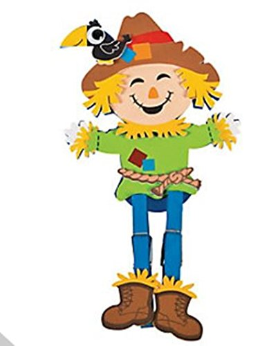 12 Foam Scarecrow Clothespin Craft Kits