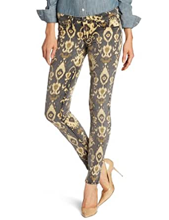 SOLD Design Lab Women's Soho Super Skinny Jean, African Totem, 24