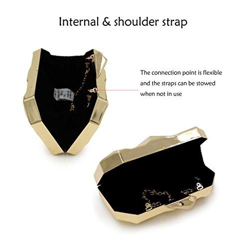 HopeEye Zinc Wallet Trends Fashion 1 mxdwyb01 Alloy Evening silver White Bag waistbag golden 3 Clutch Wedding Womens twrTvSqw