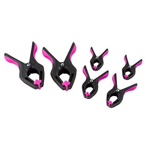 The Original Pink Box PB6CLAMP Spring Clamps Pink 6-Piece [並行輸入品] B078XL85F2