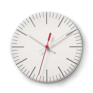Authentics Reloj de Pared, Split Time, Cuarzo, Blanco mate, Plástico ABS, 1025298