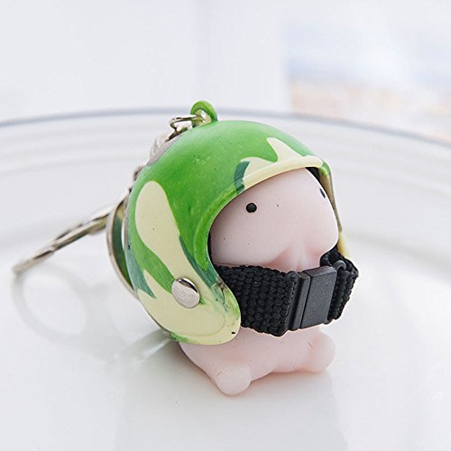 Dingding Toy Helmet Cute Keychain Squeeze Stress Reliever Prank Toy DKeyring Heavy Duty Car Keychain for Men and Women Jewelry Accessories