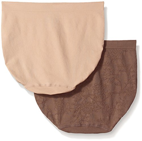 fde99b22f8c1 Ellen Tracy Women's Floral Jacquard Full Brief Panty (2 Pack ...