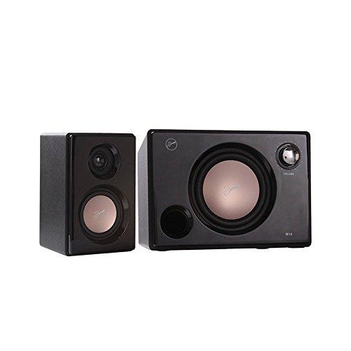 Swans Speakers - M10B - Powered 2.1 Computer Speakers - Surround Sound - Near-Field Speakers - Bookshelf Speakers - Black by Swans Speakers (Image #1)