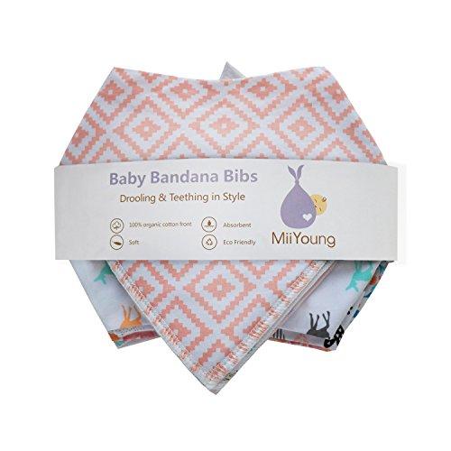 10-Pack Baby Girl Bandana Drool Bibs Gift Set for Drooling Teething by MiiYoung by MiiYoung (Image #6)