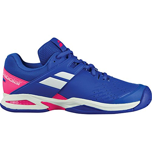 Babolat Kid's Propulse Fury All Court Junior Tennis Shoes, Princess Blue/Fandango Pink (5 M US Big Kid) (Tennis Player Junior)